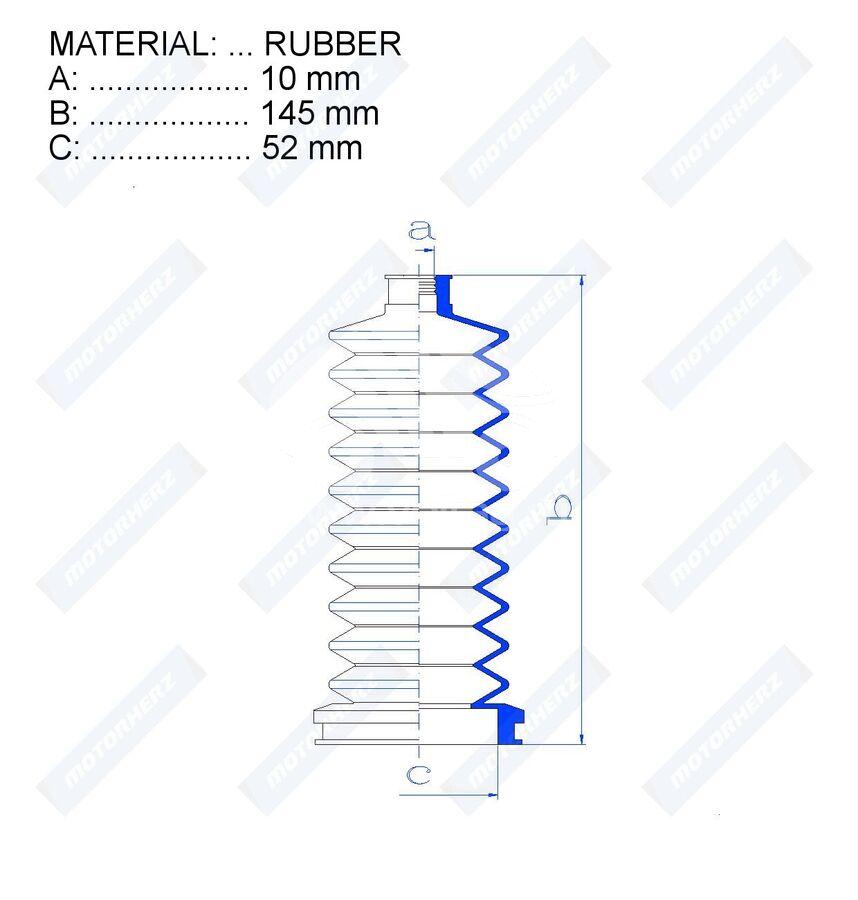Пыльник рулевой рейки RDZ0115MG