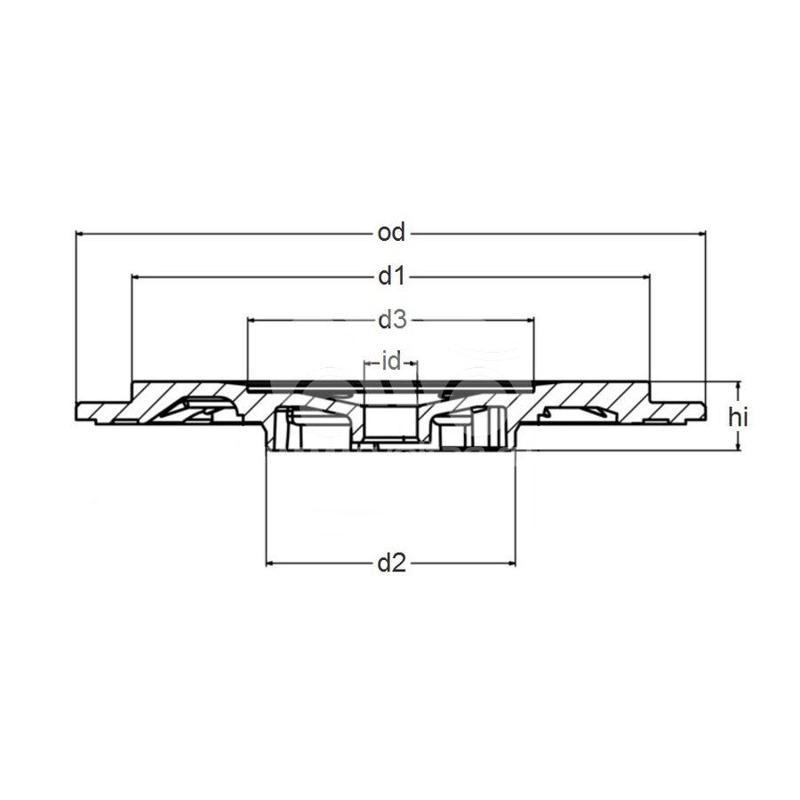 Задняя пластина MVT0017