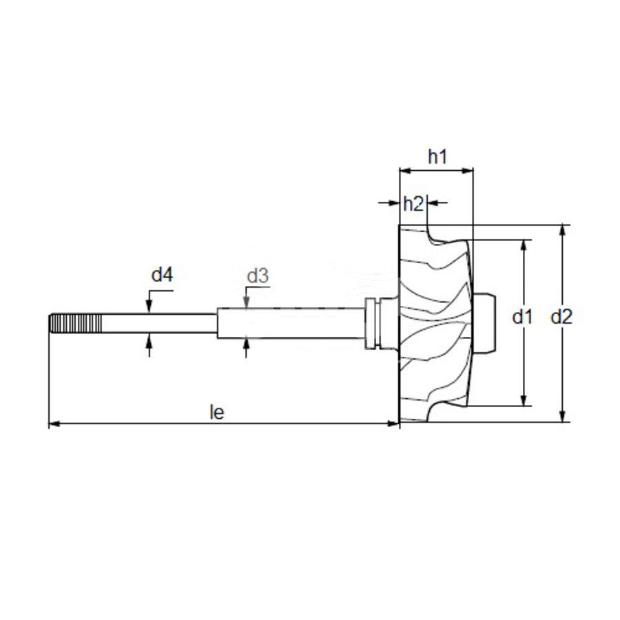 Вал турбокомпрессора MST0004