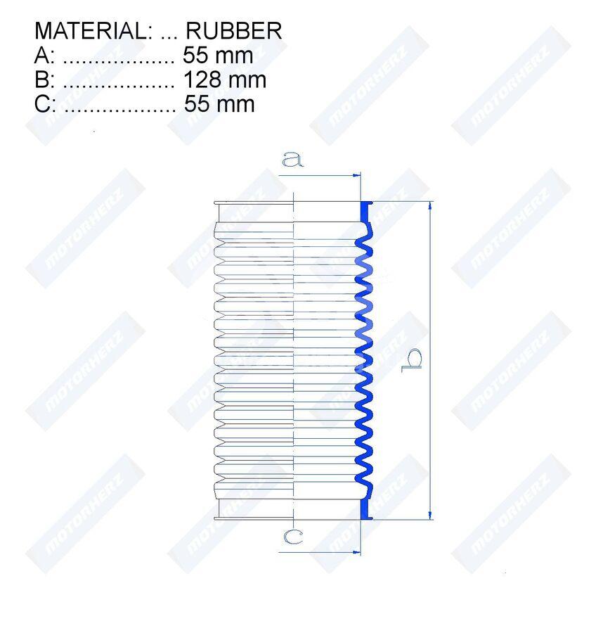 Пыльник рулевой рейки RDZ0157MG