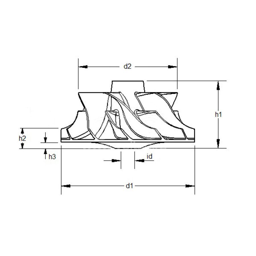 Крыльчатка турбокомпрессора MIT0058