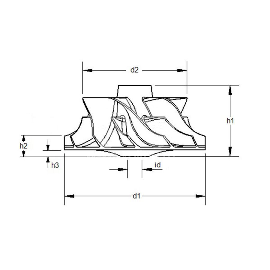 Крыльчатка турбокомпрессора MIT0027