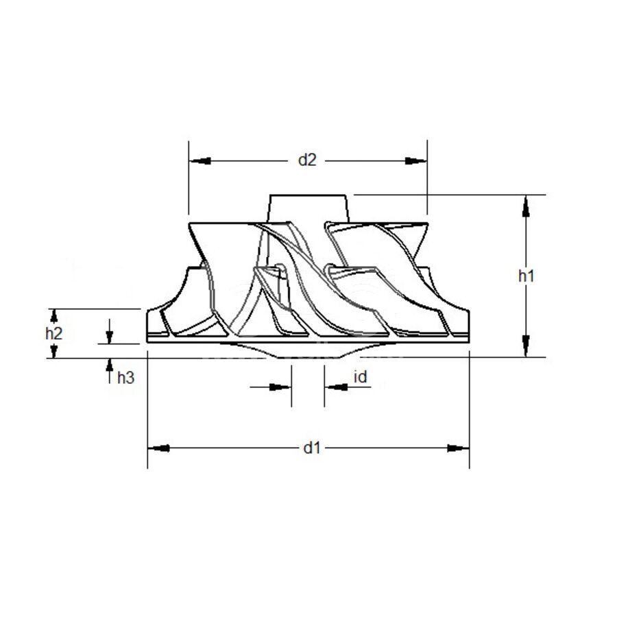 Крыльчатка турбокомпрессора MIT0002