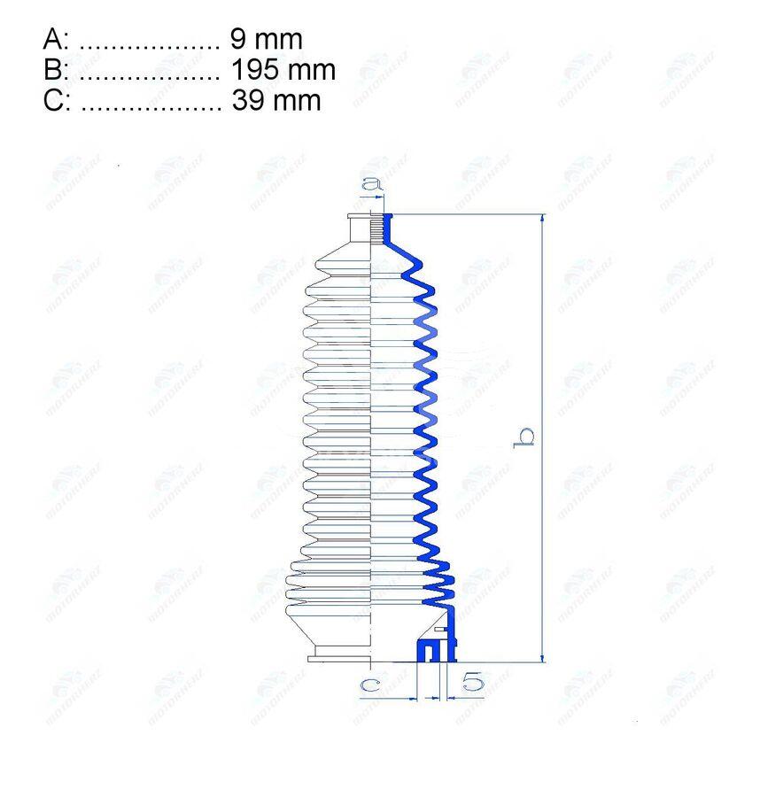 Пыльник рулевой рейки RDZ0345MG