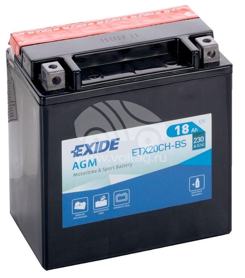 АккумуляторExide ETX20CHBS (ATM0180XE)