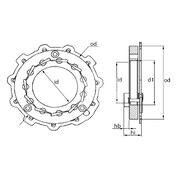 Корзина геометрии турбокомпрессора MGT1012