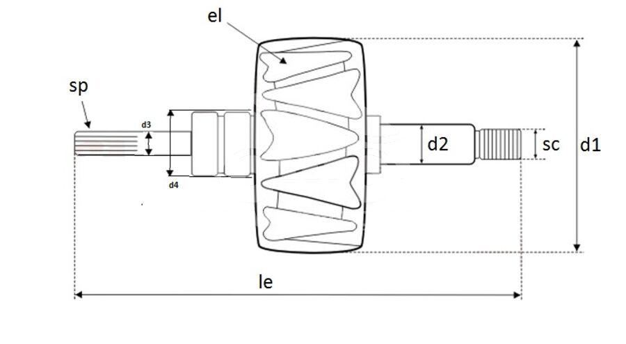 Ротор генератора AVB1957