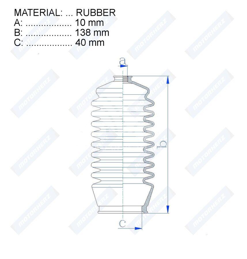 Пыльник рулевой рейки RDZ0367MG