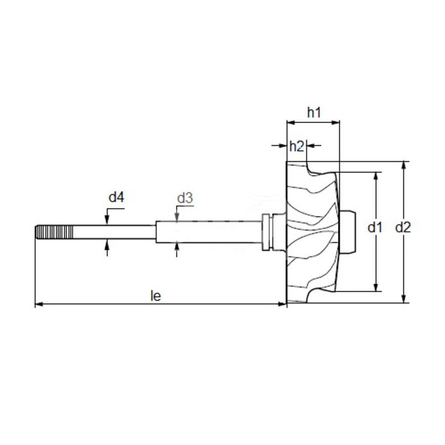 Вал турбокомпрессора MST0093