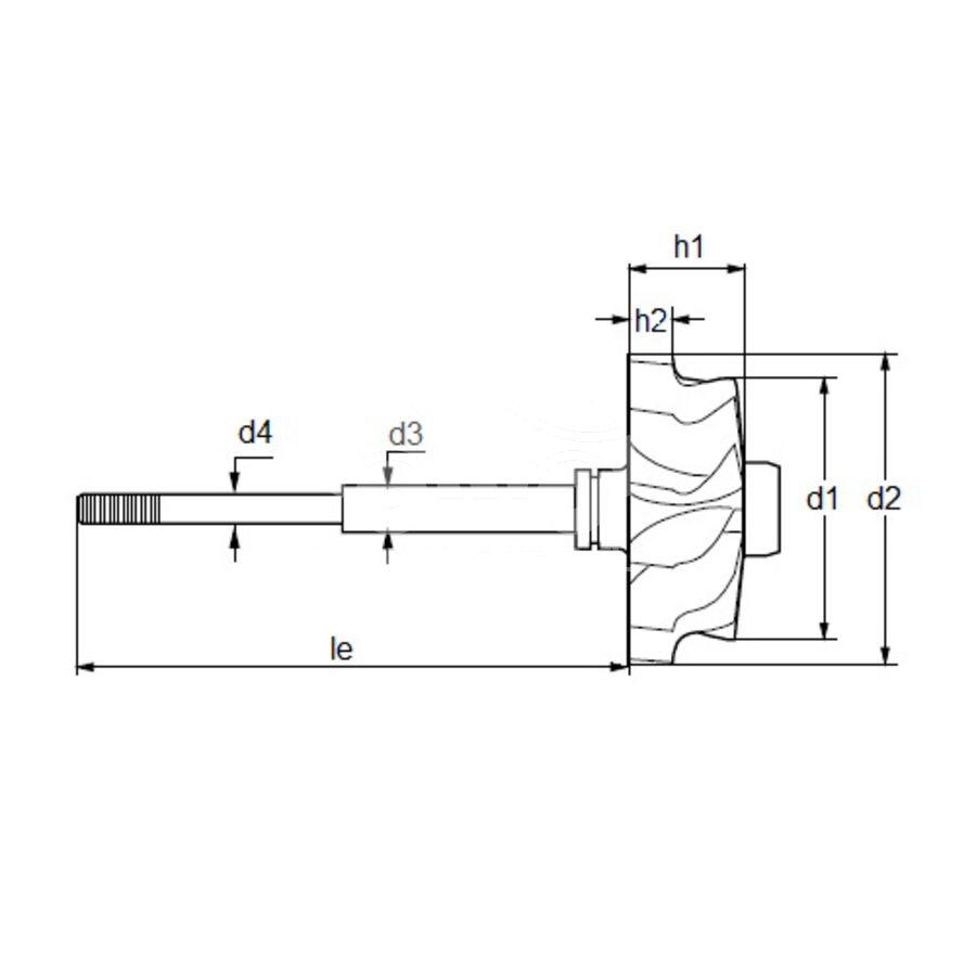 Вал турбокомпрессора MST0007