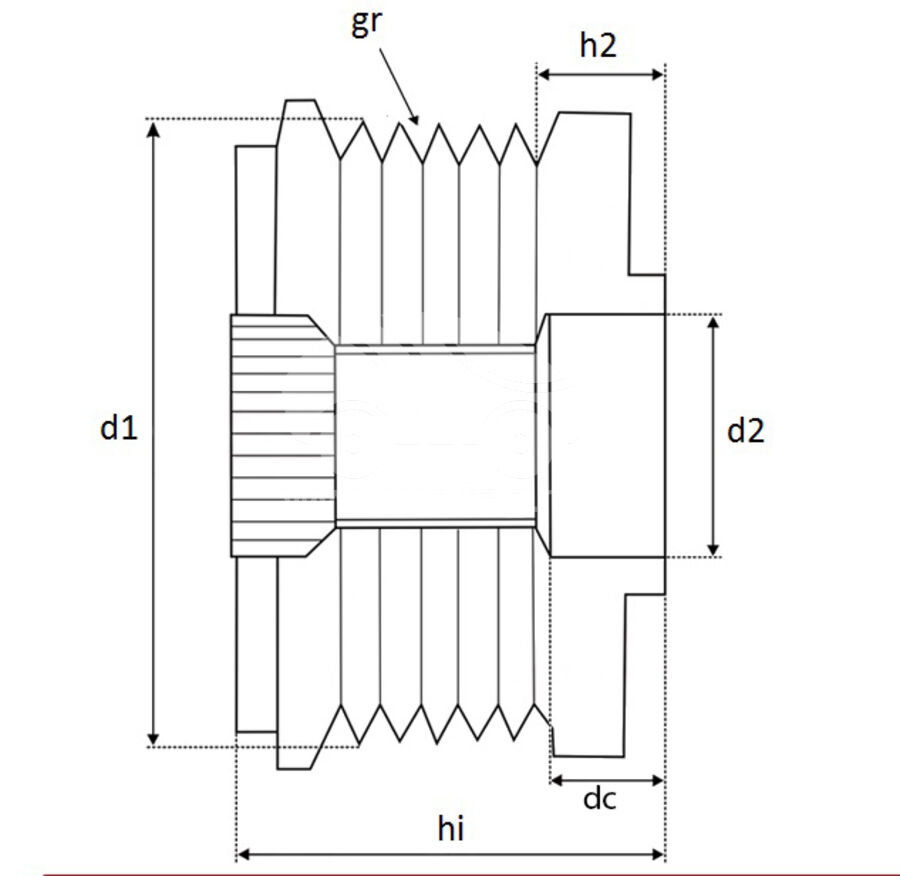 Шкив генератора обгонныйKRAUF APN7619PN (APN7619PN)