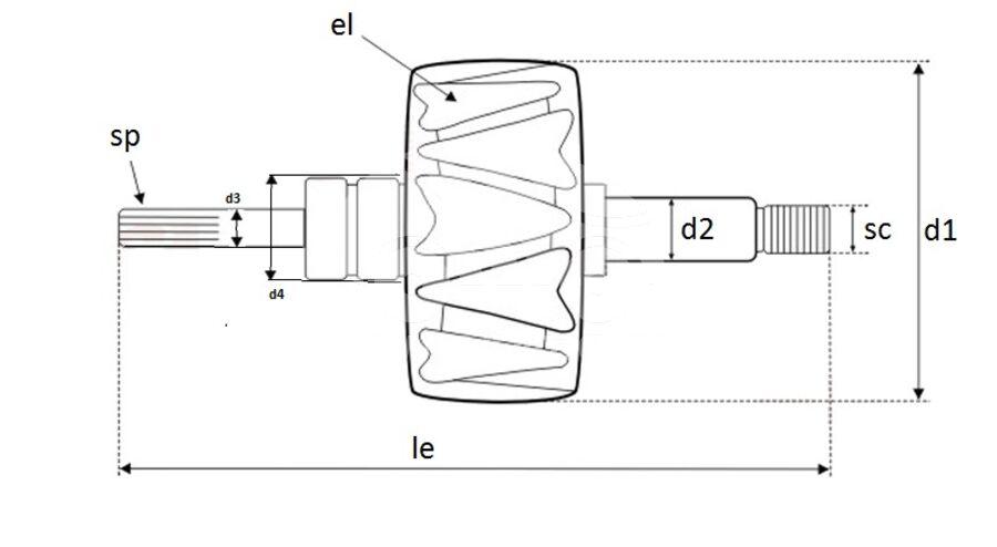 Ротор генератора AVV5633