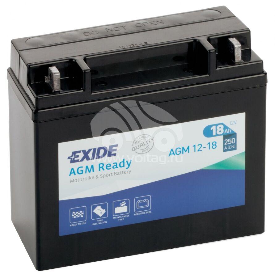 АккумуляторExide AGM1218 (ATM1218)