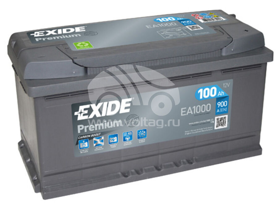 АккумуляторExide EA1000 (ATE0100XE)