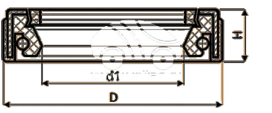 Сальник рулевой рейки HAZ1672