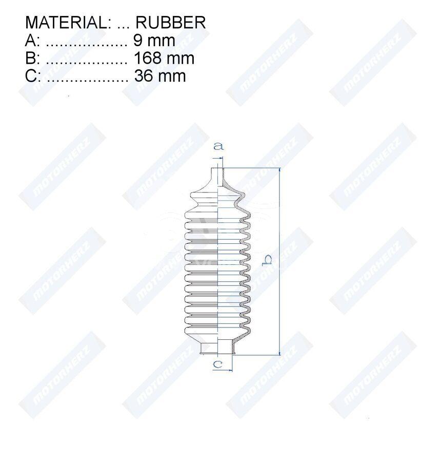 Пыльник рулевой рейки RDZ0245MG